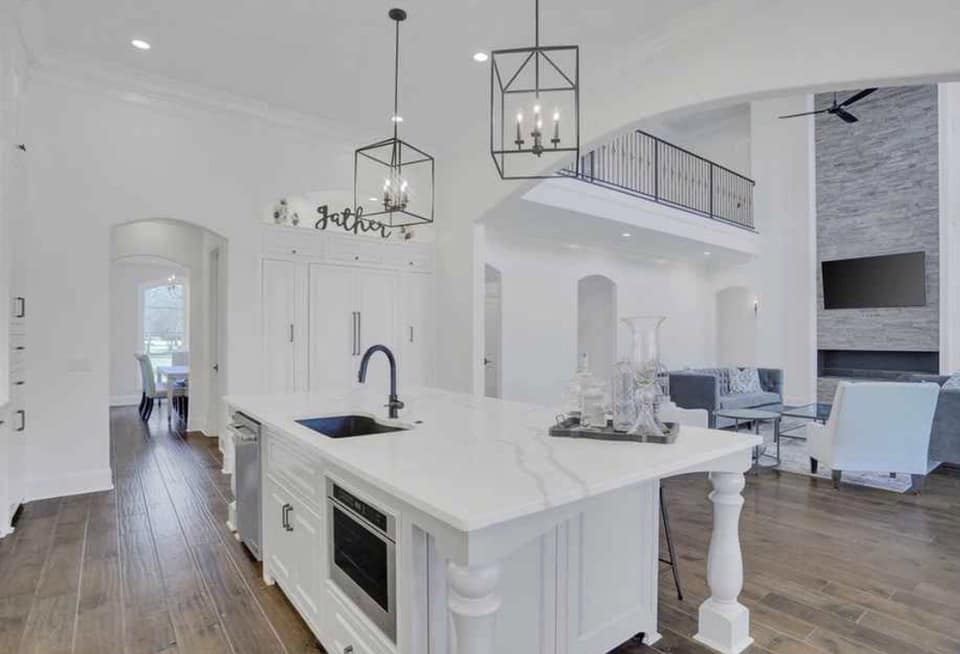 All white kitchen in custom home in Madison